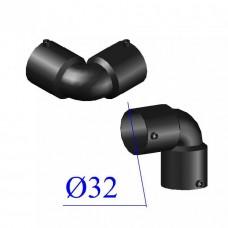 Отвод ПНД электросварной D 32 х90 гр. ПЭ 100 SDR 11