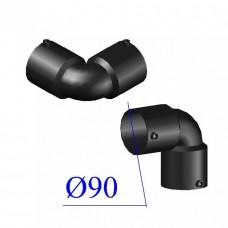 Отвод ПНД электросварной D 90 х90 гр. ПЭ 100 SDR 11