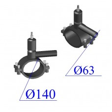 Вентиль ПНД D 140х63 ПЭ 100 SDR 11
