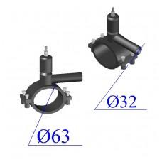Вентиль ПНД D 63х32 ПЭ 100 SDR 11