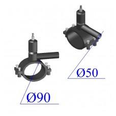 Вентиль ПНД D 90х50 ПЭ 100 SDR 11
