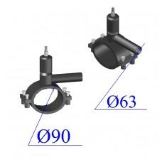 Вентиль ПНД D 90х63 ПЭ 100 SDR 11