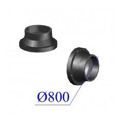Втулка короткая под фланец ПНД D 800 ПЭ 100 SDR 17