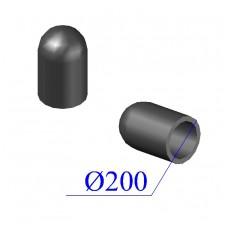 Заглушка ПНД D 200 ПЭ 100 SDR 17