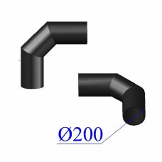 Отвод ПНД сварной D 200 х90 гр. ПЭ 100 SDR 26