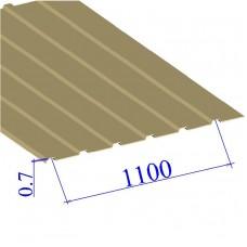 Профнастил окрашенный RAL 1014 С10 0.7х1100