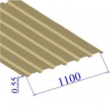 Профнастил окрашенный RAL 1014 С20 0.55х1100