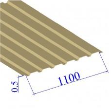 Профнастил окрашенный RAL 1014 С20 0.5х1100