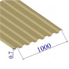 Профнастил окрашенный RAL 1014 С21 0.7х1000