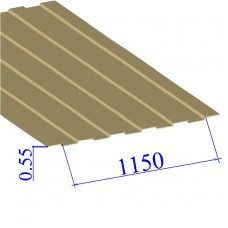 Профнастил окрашенный RAL 1014 С8 0.55х1150