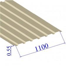 Профнастил окрашенный RAL 1015 С20 0.55х1100