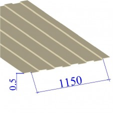 Профнастил окрашенный RAL 1015 С8 0.5х1150