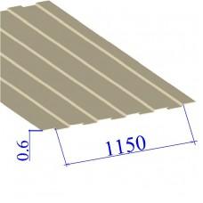 Профнастил окрашенный RAL 1015 С8 0.6х1150