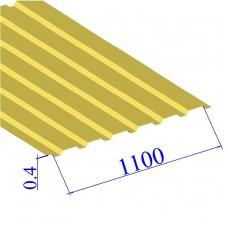 Профнастил окрашенный RAL 1018 С20 0.4х1100