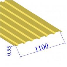 Профнастил окрашенный RAL 1018 С20 0.55х1100