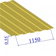 Профнастил окрашенный RAL 1018 С8 0.55х1150