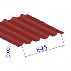 Профнастил окрашенный RAL 3003 Н60 0.65х845