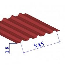 Профнастил окрашенный RAL 3003 Н60 0.8х845