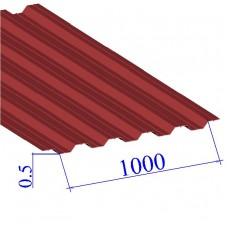 Профнастил окрашенный RAL 3003 НС35 0.5х1000