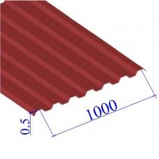 Профнастил окрашенный RAL 3003 С21 0.5х1000