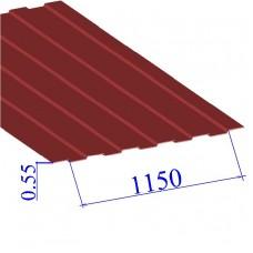 Профнастил окрашенный RAL 3003 С8 0.55х1150