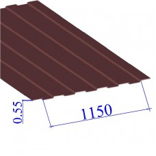 Профнастил окрашенный RAL 3005 С8 0.55х1150