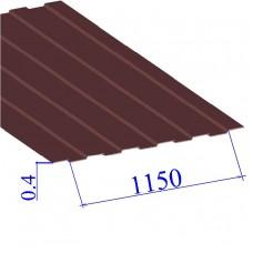Профнастил окрашенный RAL 3005 С8 0.4х1150
