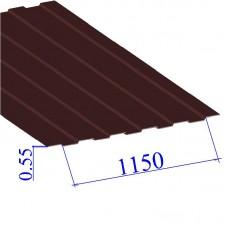 Профнастил окрашенный RAL 3009 С8 0.55х1150