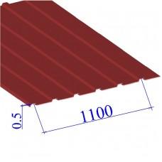 Профнастил окрашенный RAL 3011 С10 0.5х1100