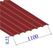 Профнастил окрашенный RAL 3011 С20 0.55х1100