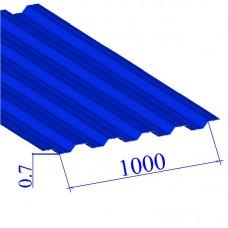 Профнастил окрашенный RAL 5005 НС35 0.7х1000