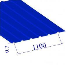 Профнастил окрашенный RAL 5005 С10 0.7х1100