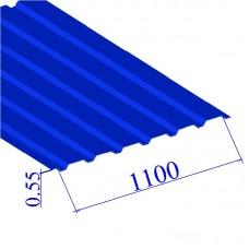 Профнастил окрашенный RAL 5005 С20 0.55х1100