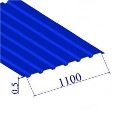 Профнастил окрашенный RAL 5005 С20 0.5х1100