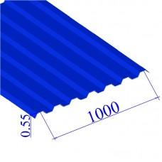 Профнастил окрашенный RAL 5005 С21 0.55х1000