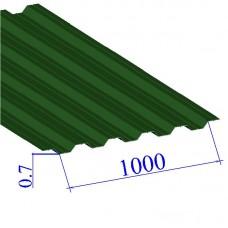 Профнастил окрашенный RAL 6002 НС35 0.7х1000