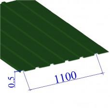Профнастил окрашенный RAL 6002 С10 0.5х1100