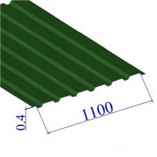 Профнастил окрашенный RAL 6002 С20 0.4х1100