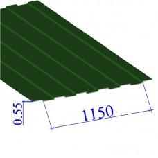 Профнастил окрашенный RAL 6002 С8 0.55х1150