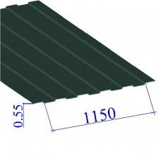 Профнастил окрашенный RAL 6005 С8 0.55х1150