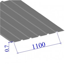 Профнастил окрашенный RAL 7004 С10 0.7х1100