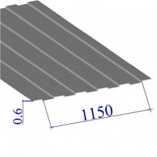 Профнастил окрашенный RAL 7004 С8 0.6х1150