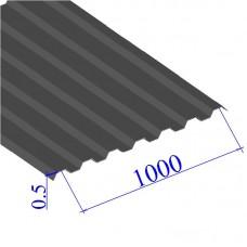 Профнастил окрашенный RAL 7014 С21 0.5х1000