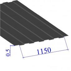Профнастил окрашенный RAL 7014 С8 0.5х1150