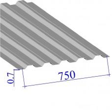 Профнастил окрашенный RAL 9002 Н75 0.7х750