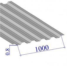Профнастил окрашенный RAL 9002 НС35 0.8х1000