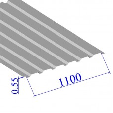 Профнастил окрашенный RAL 9002 С20 0.55х1100