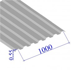 Профнастил окрашенный RAL 9002 С21 0.55х1000