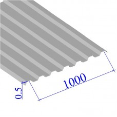 Профнастил окрашенный RAL 9002 С21 0.5х1000