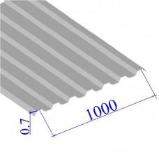 Профнастил окрашенный RAL 9002 С21 0.7х1000